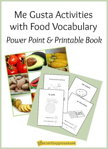 These me gusta activities use food vocabulary in communicative interactions for Spanish learners.