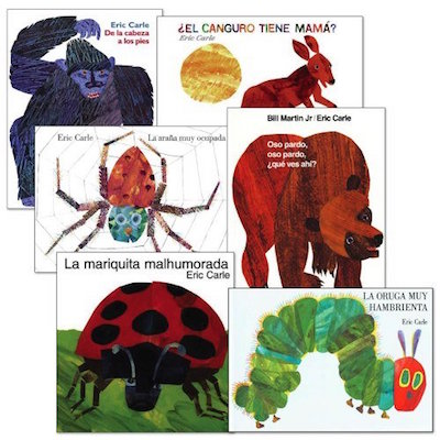 These classic books by Eric Carle are wonderful Spanish language gifts for kids.