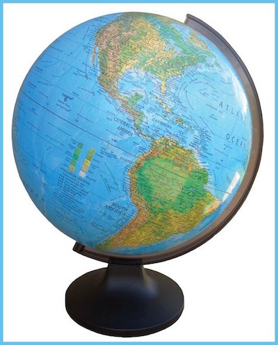 Educational Spanish language gifts like this globe give children important exposure to language.
