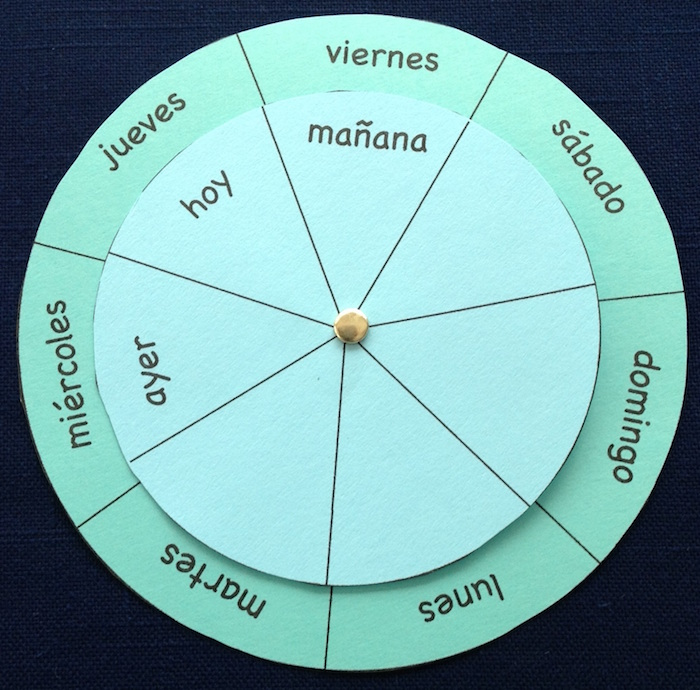 This printable wheel is one of most effective Spanish days of the week activities to use in class.
