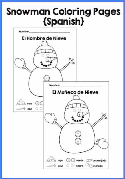 Free Spanish Winter Activities From Tpt Spanish Playground