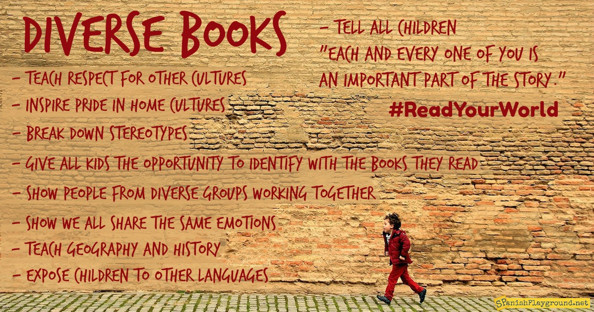 Diverse books reflect the culture, perspective and language of Spanish speakers.