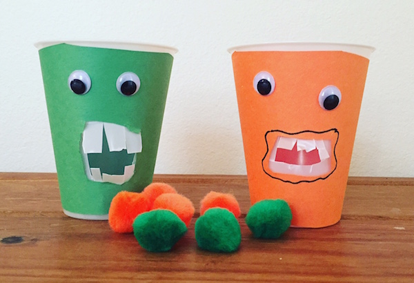 Counting activities like this monster are effective Spanish number games for preschoolers.