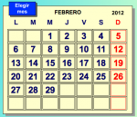 Spanish days of the week and months - An online activity