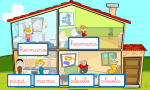 Spanish Game - Online Activities Teach Family and House Vocabulary