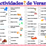 Printable Spanish Summer Activities List