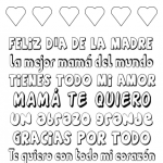 Mothers Day Printable Spanish Subway Art to Color