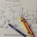Printable Spanish Story and Coloring Book with Activities - Los Pollitos