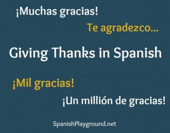 Ways to express appreciation and for giving thanks in Spanish.