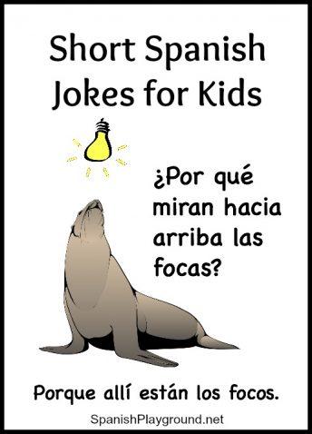 These short jokes for children learning Spanish teach common vocabulary.