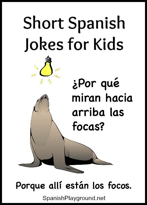 More Jokes For Children Learning Spanish Spanish Playground