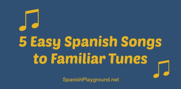 Easy Spanish songs for kids in preschool school.