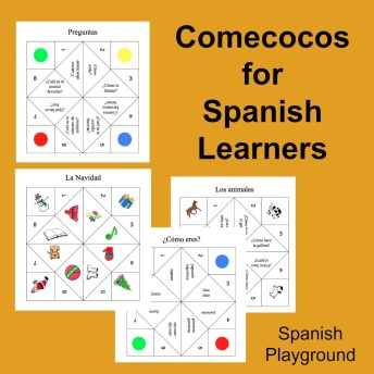 A Spanish game for teaching vocabulary and questions.