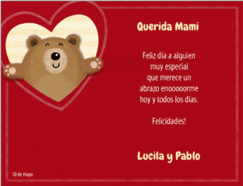 Spanish Mother's Day cards to print and personalize.