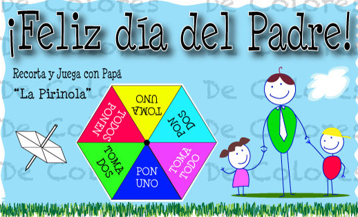 Spanish Fathers Day Card With Simple Game Is A Great Language