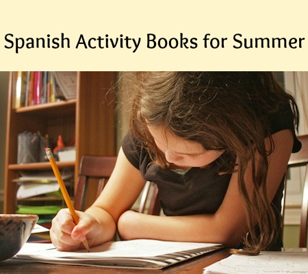 Spanish activity books for children to use over the summer.