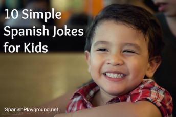 Simple Spanish jokes for parents and teachers to use with kids learning language.