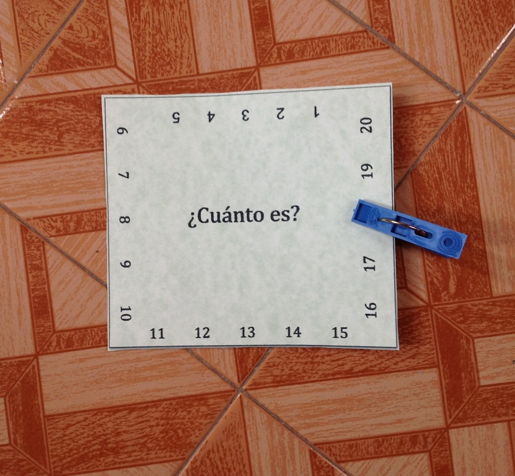 printable spanish activity