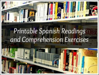 Spanish reading comprehension passages with exercises appropriate for Spanish learners.