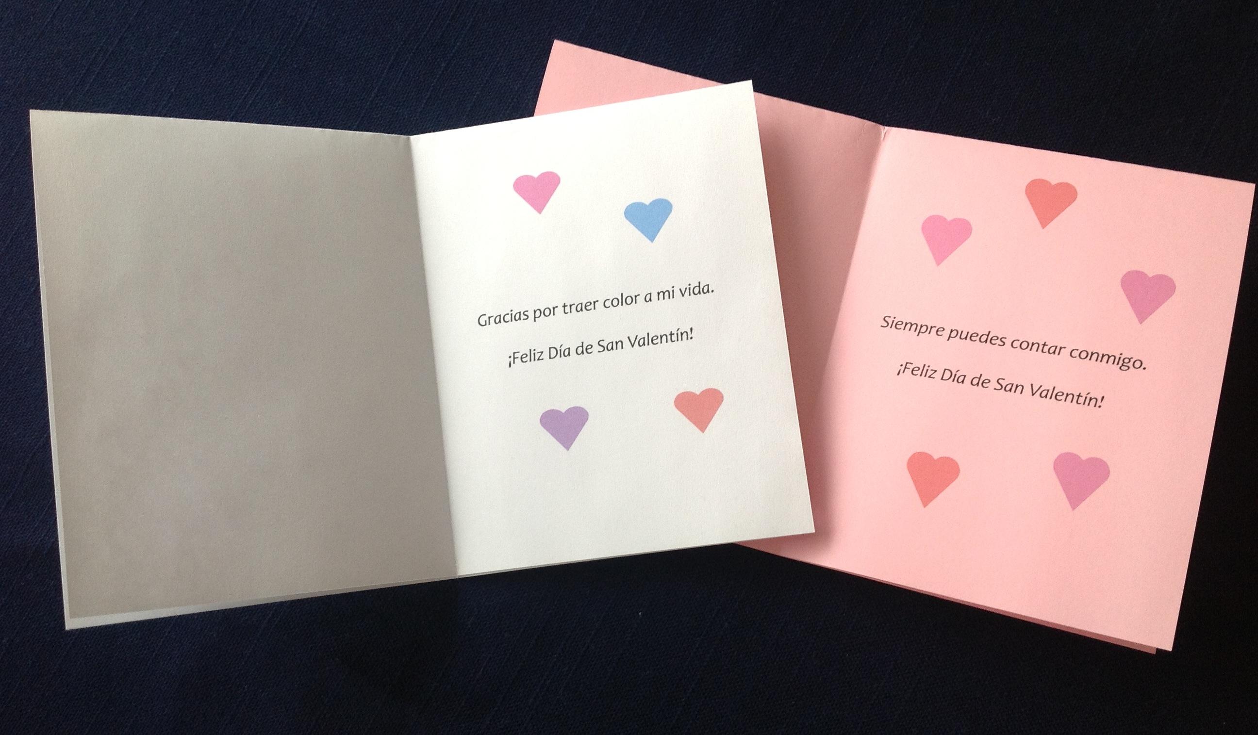 Spanish Valentine Cards To Print Spanish Playground