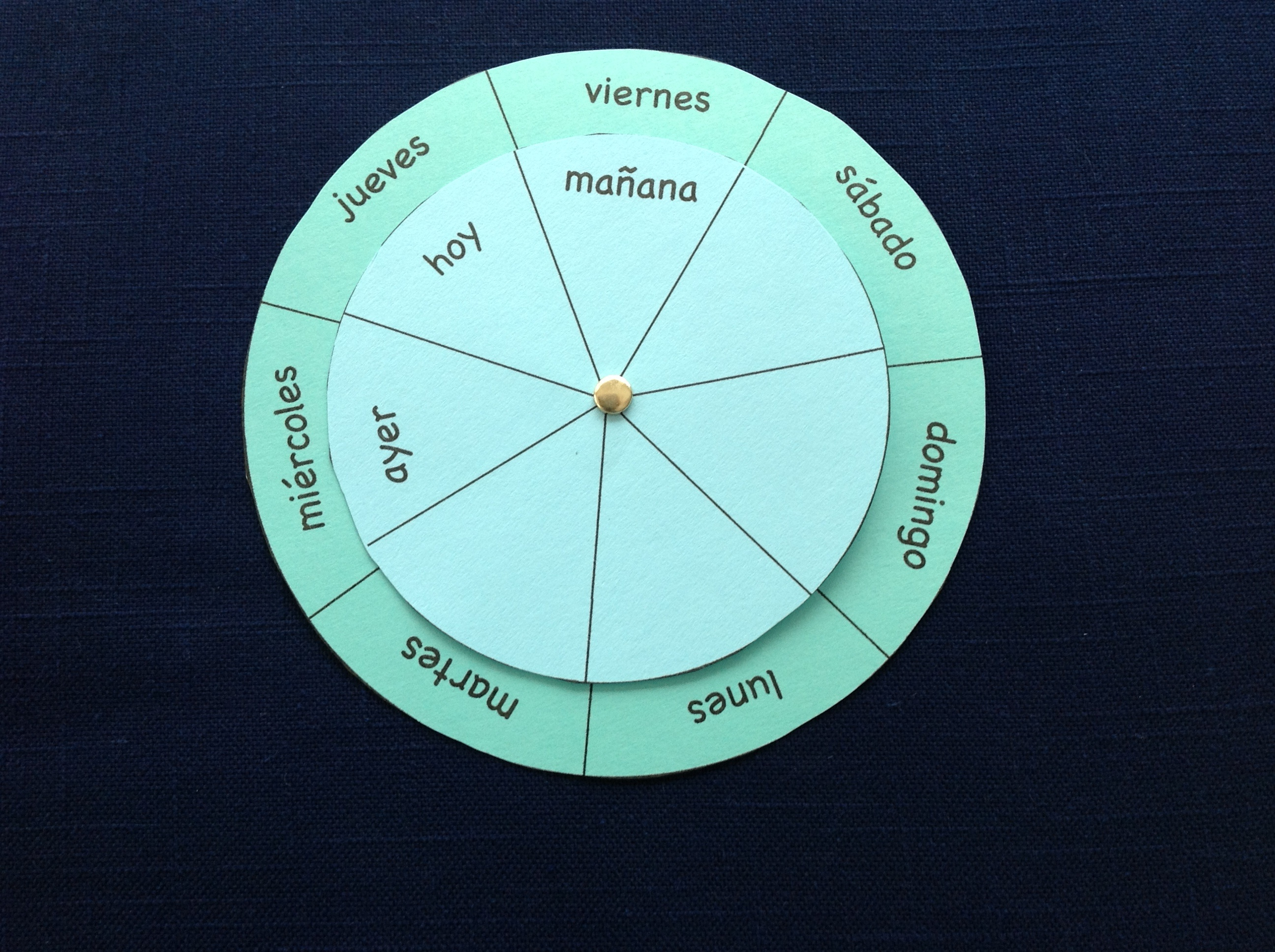 spanish days of the week wheel
