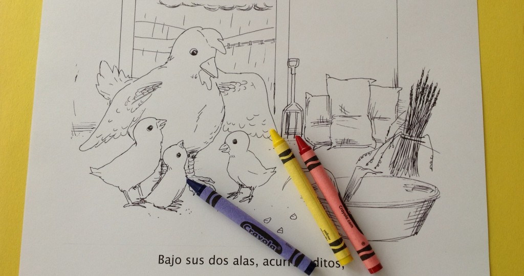spanish story and coloring book