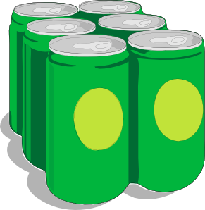recycling six pack cans