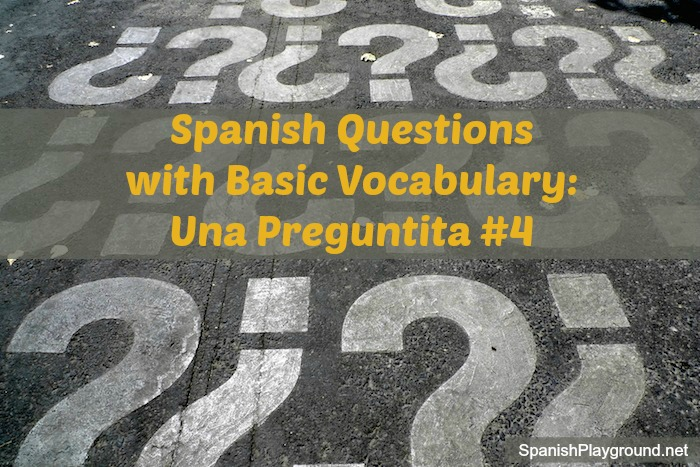 Spanish questions for games and activities with language learners.