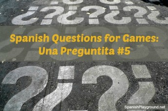 Spanish questions for games teach kids vocabulary and verbs.
