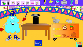 An Spanish online game to teach kids prepostions.