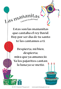 Happy birthday song in Spanish