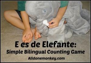 Spanish games for kids elefante