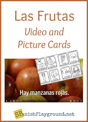 A video and picture cards to teach Spanish words for kids.