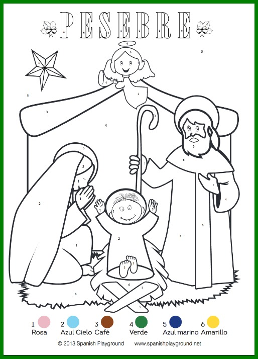 Christmas Coloring By Numbers Pages