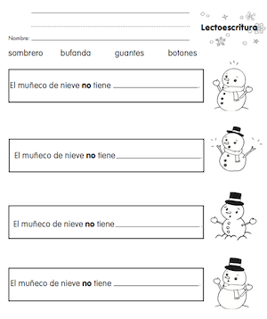 spanish winter vocabulary