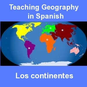 geography in spanish continents