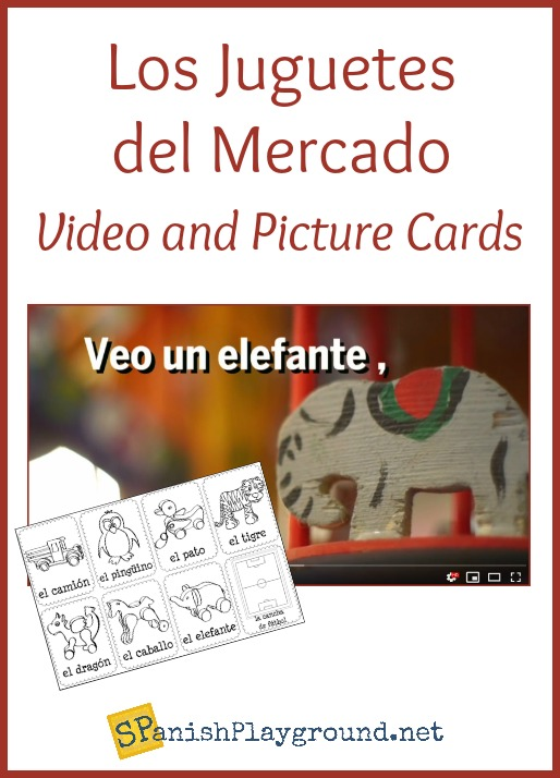 Use this Spanish words kids love to teach words for toys and the verb ver.