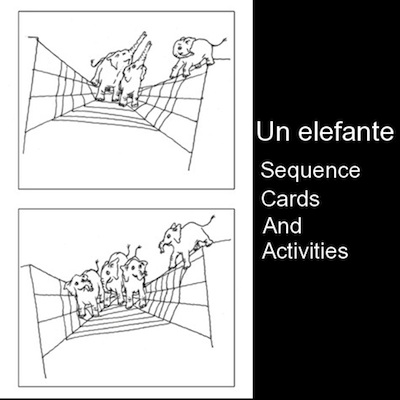 image regarding Sequence Cards Printable called Spanish Tunes for Young children: Printable Collection Playing cards for Un
