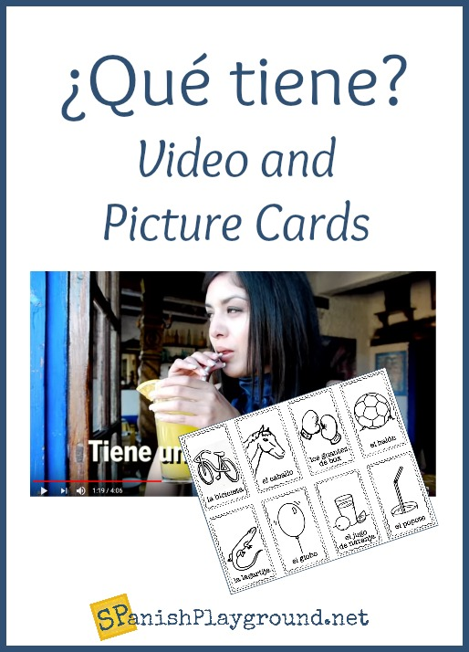Use this Spanish Words Kids Love video to teach the verb tiene.