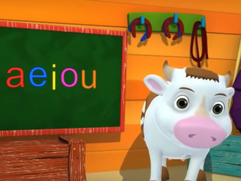 Spanish vowels in a darling song for kids.
