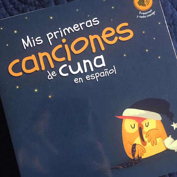 Spanish lullabies in a board book with built-in music.