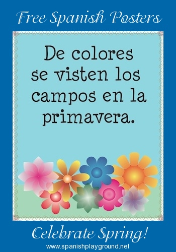 Printable Spanish Posters and Coloring Pages for Spring - Spanish ...