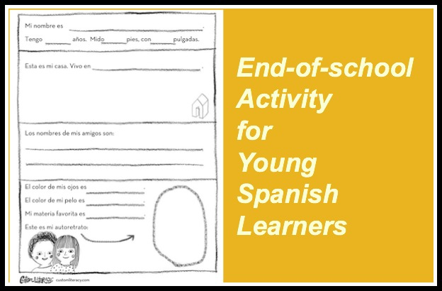 An end of school year activity for young Spanish learners.