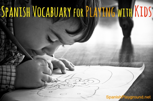 Spanish vocabulary for games in an e-book.