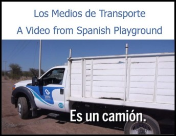 Kids learn Spanish words for transportation in a 3-minute video.