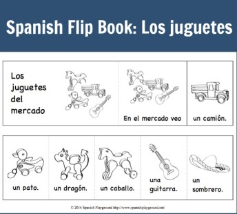 A flip book in Spanish to teach children the verb ver.