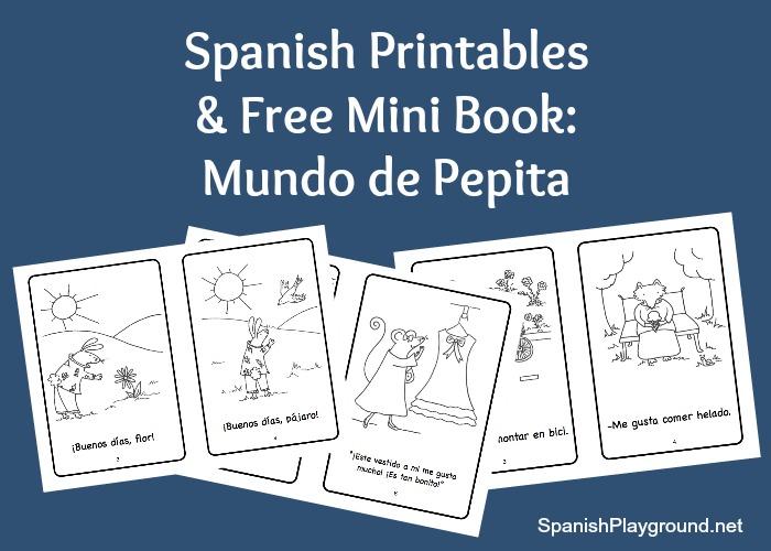 Printable spanish mini books for kids.