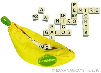 Spanish word games for kids using Bananagrams.