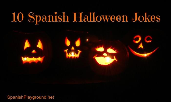 10 Spanish Halloween jokes for kids.