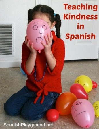 Teaching kindness and kind language is important for kids learning Spanish.